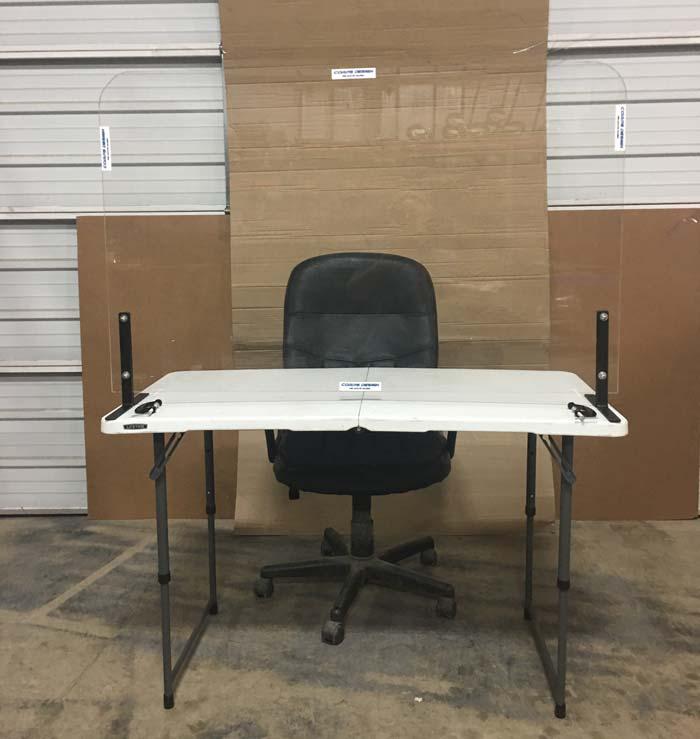 desk and table barrier acrylic