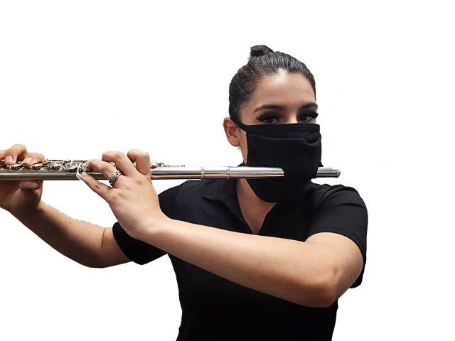 Mask with flute slit