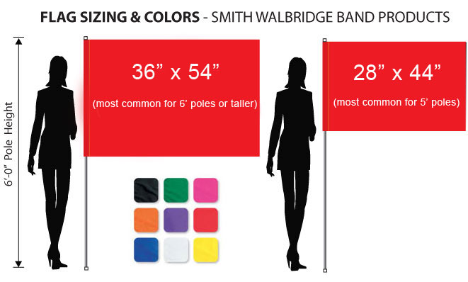 Flag Sizing and Color Charts