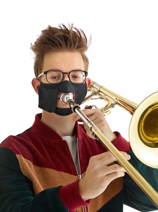 musician and marching band mask