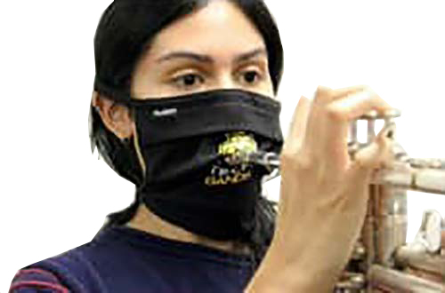 Face Mask for Brass and Wind players band