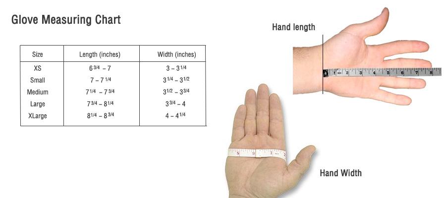 ever dri glove sizing chart