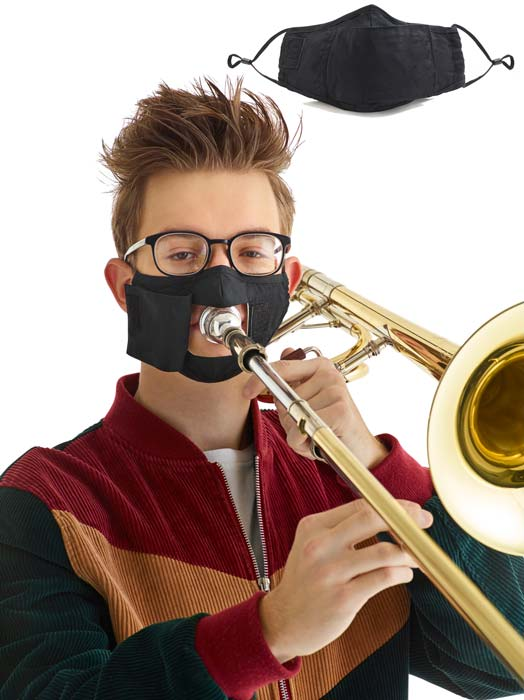 Upfront Performance Mask for Brass and Wind Players
