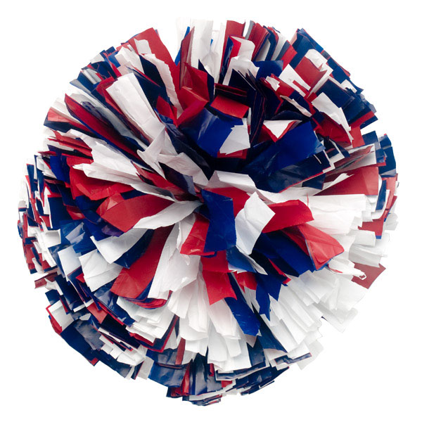 Plastic Poms Three Color Mixed