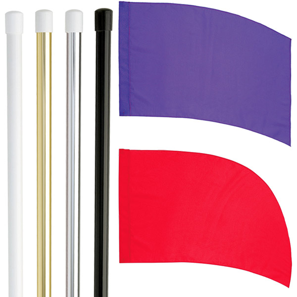 DSI Flag Pole and PCS Practice Flag Starter Package 1- FREE SHIPPING