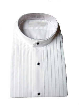 Concert Wear Men's Tuxedo Shirt- Banded collar
