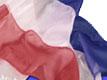 Red White & Blue Twirl Star Baton Flag