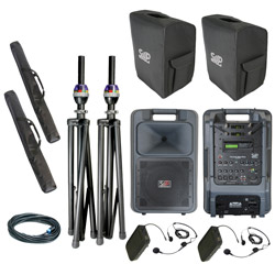 Sound Projections SM-5 Dual Bodypack Wireless Deluxe Package with Bluetooth