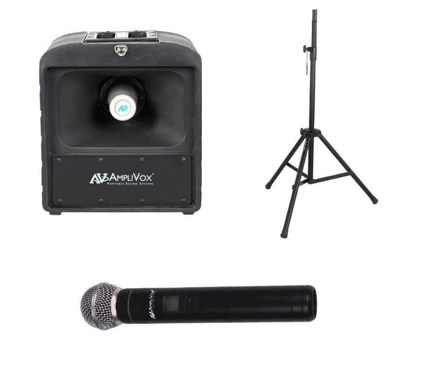 Amplivox SW6822 Basic Wireless Mega Hailer Bundle with Handheld Microphone