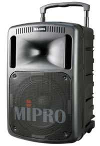 Mipro MA-808 Portable Wireless PA System-Single Channel w/CD-USB Player