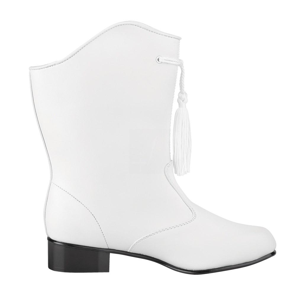 StylePlus Traditional-Majorette Boots (vinyl) WHITE