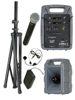 Sound Projections Voice Machine VM-2 Dual Handheld & Bodypack Wireless Package