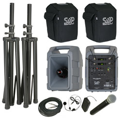 Sound Projections Voice Machine VM-2 Dual Handheld & Bodypack Wireless Deluxe Package