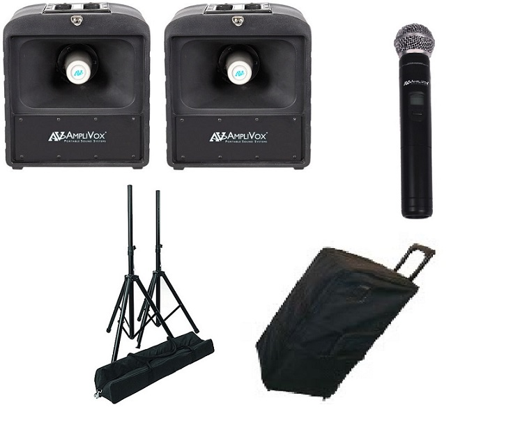 Amplivox SW6824 Premium Mega Hailer Bundle with Wireless Handheld Microphone