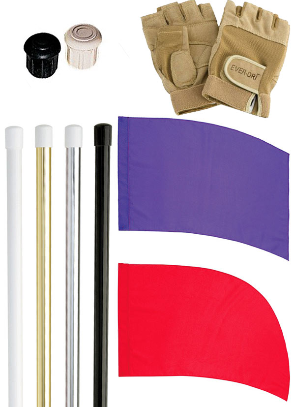 DSI Flag Pole and PCS Practice Flag Deluxe Package
