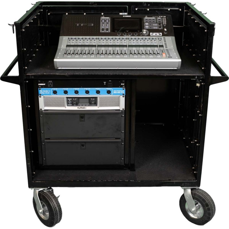 Standard 12U Mixer Cart for Marching Band - by Corps Design