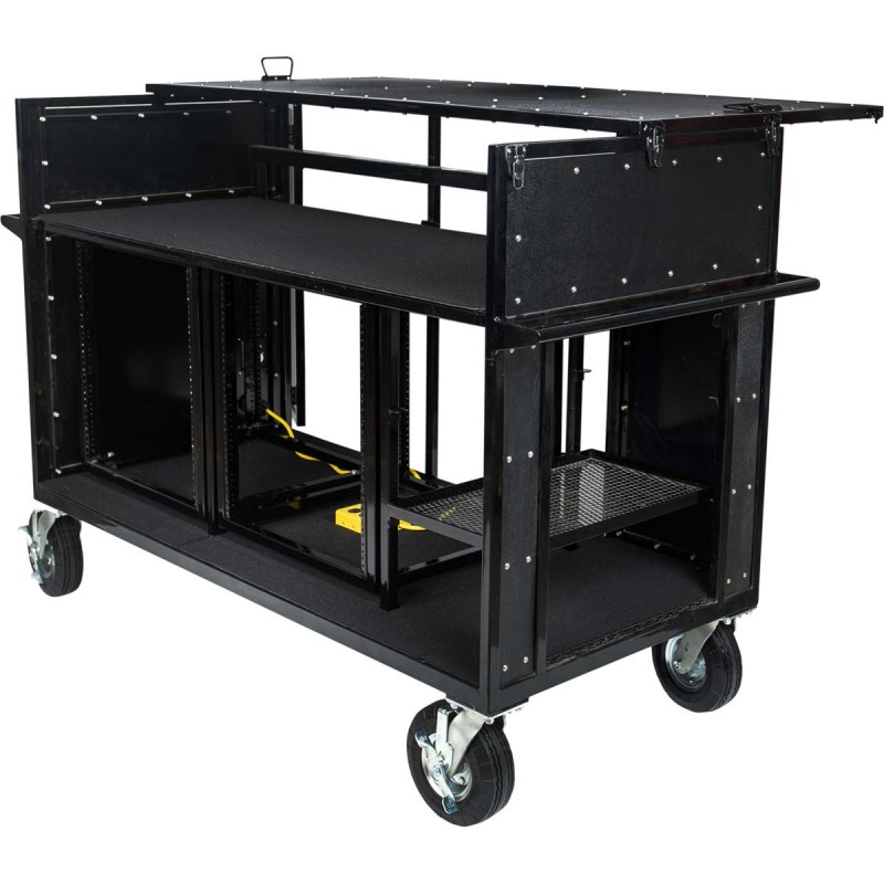Standard 24U Mixer Cart for Marching Band - by Corps Design