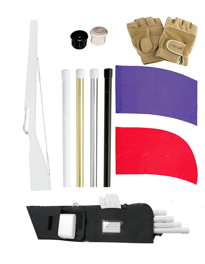 DSI Flag, Flag Pole, Rifle, Sabre, and Equipment Bag Bundle