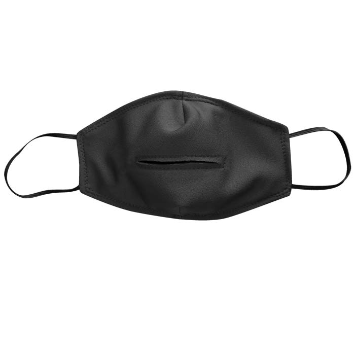 Flat Performance Face Mask for Brass and Wind Players with optional performance slit
