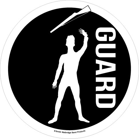 Color Guard Window Decal - Male