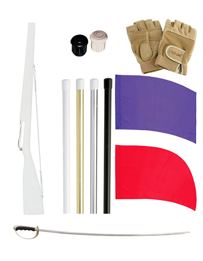 DSI Flag, Flag Pole, Rifle, and Sabre Starter Package 3 - FREE SHIPPING