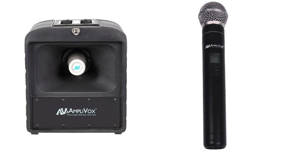 Amplivox SW685 Mega Hailer PA with Wireless Handheld Microphone