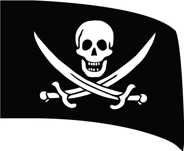 Custom Standard Digital Guard Flag SW140 - Pirate Theme