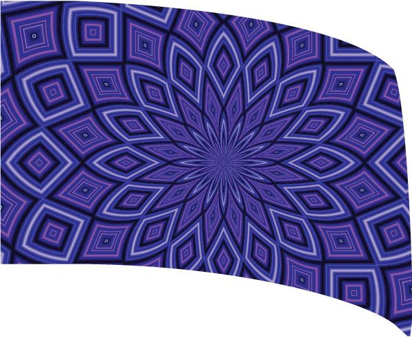 Custom Standard Digital Guard Flag SW165 - kaleidoscope
