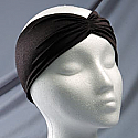 """2"""" Lycra Headband with Front Pleat"""
