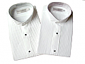 Concert Wear Men's Tuxedo Shirt- Wing Tip Collar